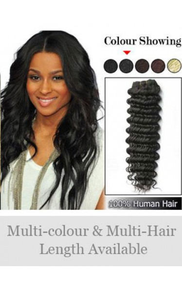 Deep Wave Indian Remy Weft Extensions