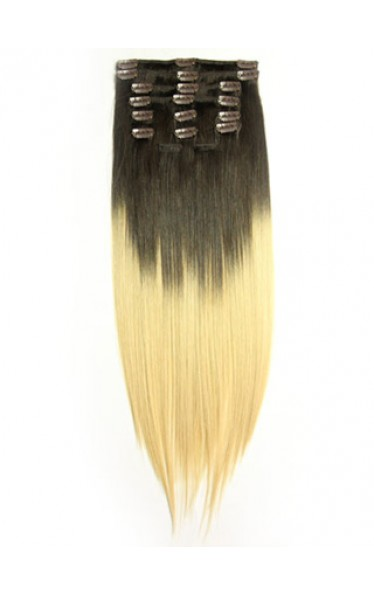 Dip Dye Clip-in Straight Hair