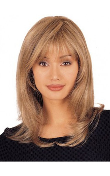 Mid Length 100% Hand-tied Lace Front Wig