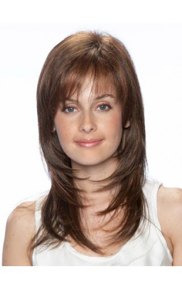 Long Textured Layered Human Hair Wig