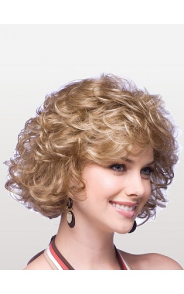 Mid-Length Curly Bob Synthetic Wig