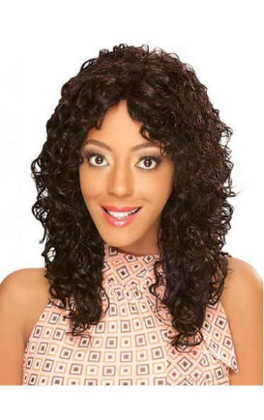 Popurlar Long Curly Human Hair Wig