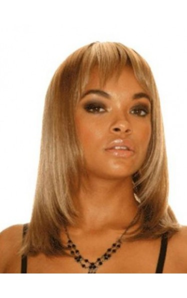 Shoulder Length Straight 100% Human Hair Wig