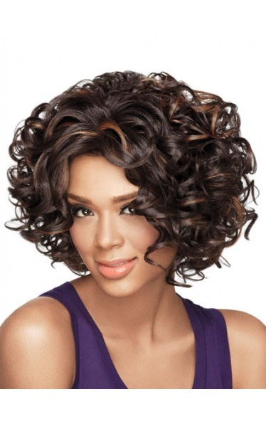 Gorgeous Curly Chin-length Synthetic Wig