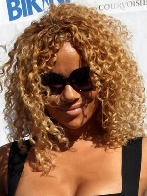 Ancient Short Curly Blonde African American Lace Wigs For Women