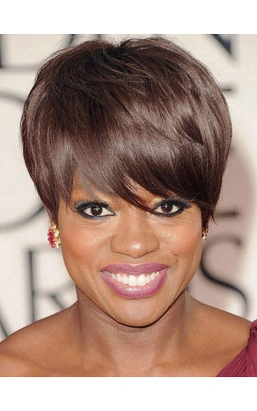 Attractive Short Straight African American Wigs for Women
