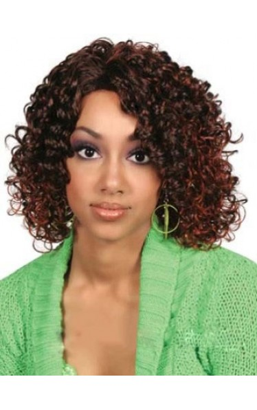 Top Quality Medium Curly African American Lace Wigs