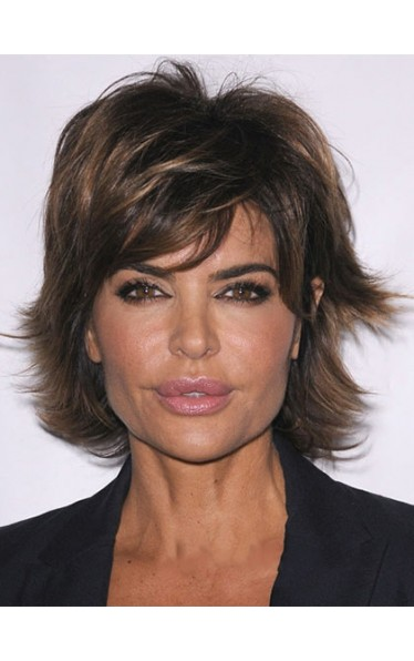 Gorgeous Short Wavy Brown African American Lace Wigs