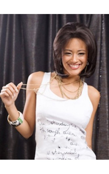 Soft Short Straight No Bang African American Lace Wigs for Women