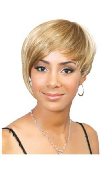 Hot Short Straight Full Bang African American Wigs for Women