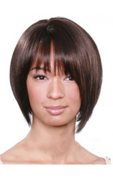 Wholesale Short Straight Full Bang African American Wigs for Women