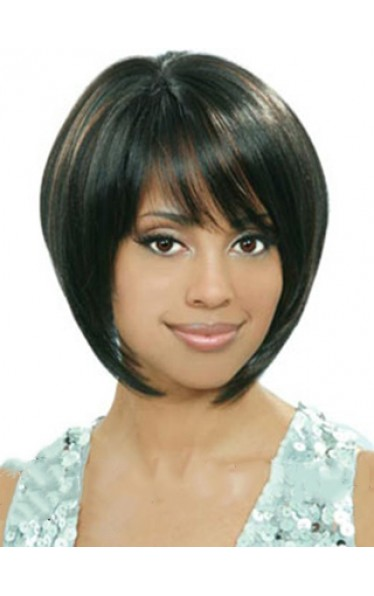 Afro American Wigs Short Straight Black African American Wigs