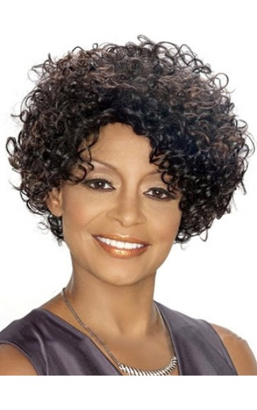 Special Cool Short Curly African American Lace Wigs