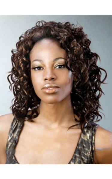 Best Curly No Bang African American Lace Wigs for Women