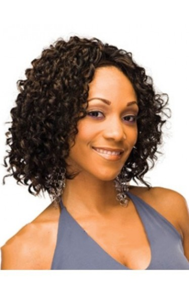 Lastest Trend Short Curly No Bang African American Lace Wigs for Women