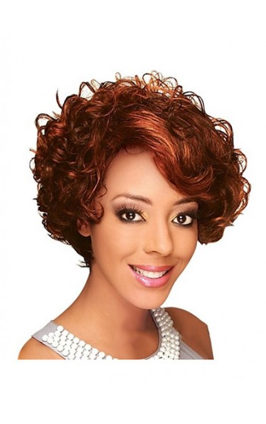 2013 Fashion Trend Short Curly African American Lace Wig