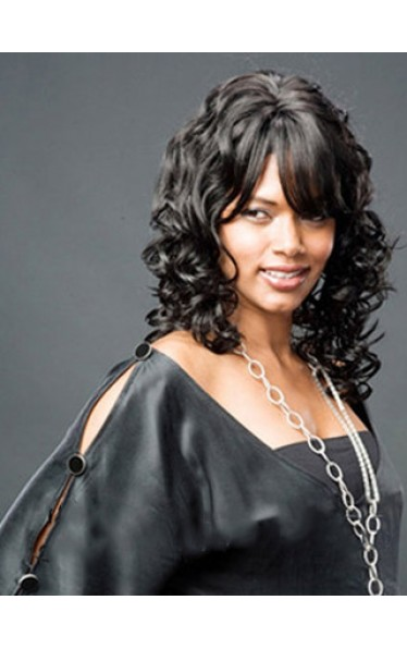 Grand Wavy Black Full Bang African American Wigs for Women