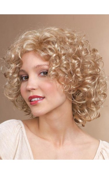 Curly Medium Length Synthetic Wig