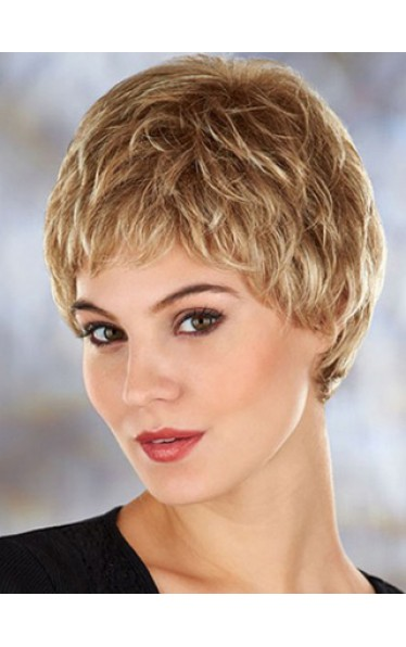 2014 Gorgeous Short Wavy Synthetic Lace Front Wig