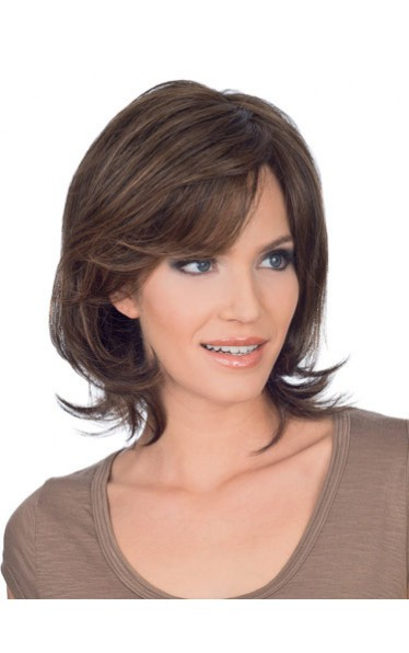 Chin Length Wavy Human Hair Lace Front Wig
