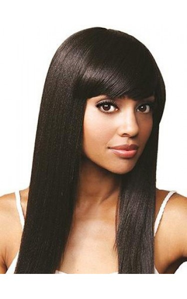 16 Inch Silky Straight Remy Human Hair Full Lace Wigs