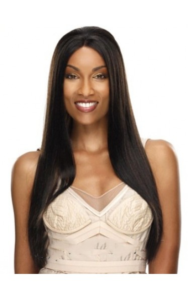 Classic Long Straight African American Lace Wigs