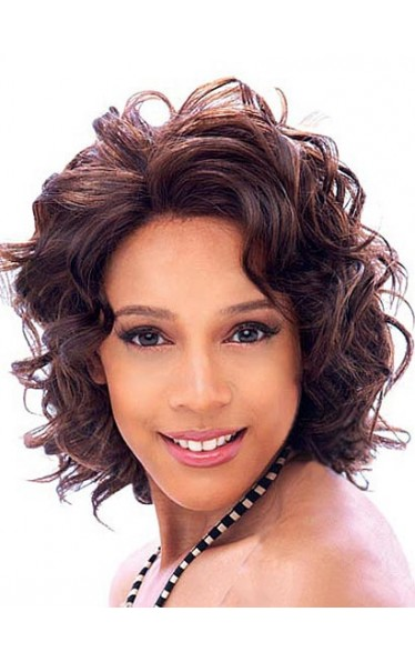 Gorgeous Short Wavy African American Wigs