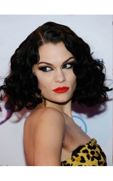 A Jessie J Medium Curly Wig