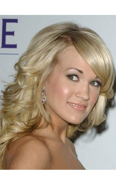 Carrie Underwood's Beautiful Shining Hairstyle Wig