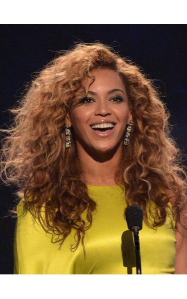 100% Human Hair Beyonce's Long Curly Wig