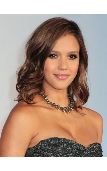 Jessica Alba's Medium Wavy Synthetic Wig