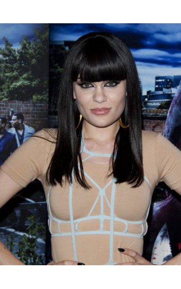 Jessie J Style Long Straight synthetic Wig