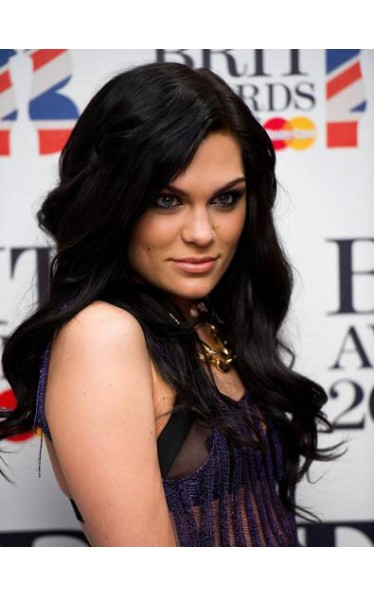 Jessie J Long Wavy Synthetic Lace Wig