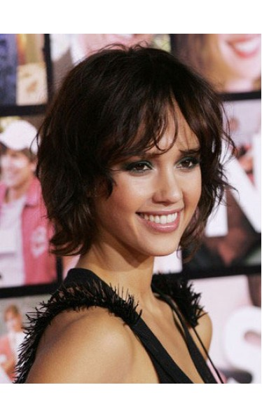 Jessica Alba Short Human Hair Lace Front Wig