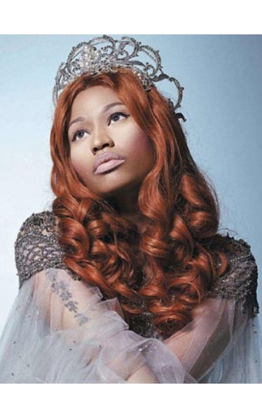 Nicki Minaj Long Length Brown Curly Wig