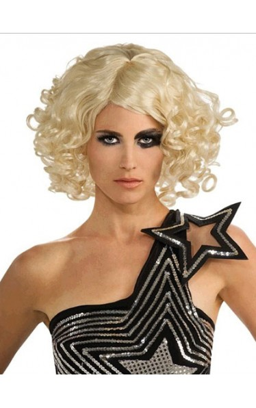 Fantastic Medium Curly Lady Gaga Lace Front Wig for Woman
