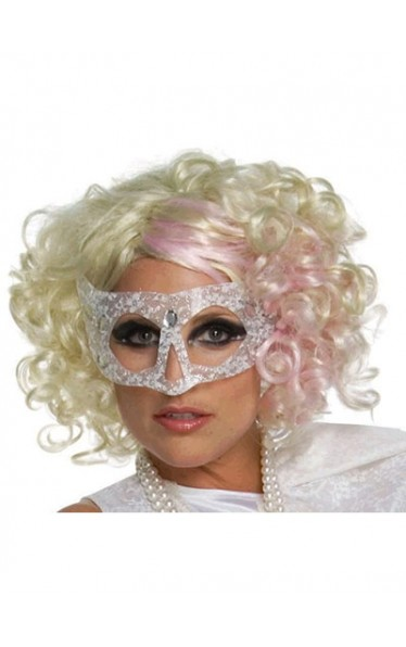 Attractive Medium Curly Lady Gaga Lace Front Wig for Woman