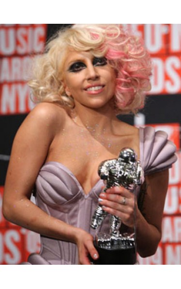 Amazing Medium Wavy Lady Gaga Capless Wig for Woman