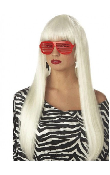 Cool Long Straight Lady Gaga Capless Wig for Woman