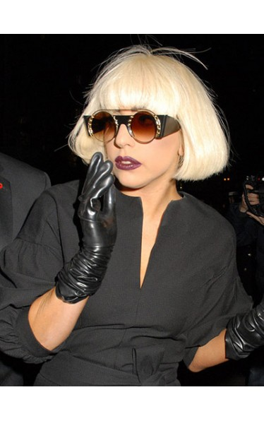 Classic Short Straight Lady Gaga Capless Wig for Woman
