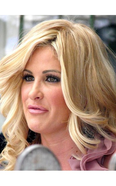 Kim Zolciak long wavy layers wig