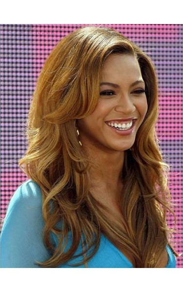 Fascinating Beyonce Sexy Long Wavy Lace Front Wig