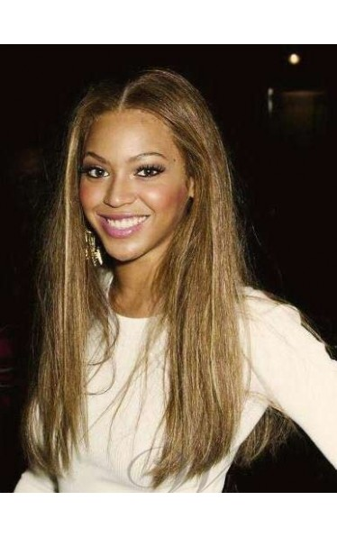 Attractive Beyonce Hairstyle Long Straight Full Lace Wig