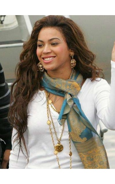 Stylish Beyonce Long Wavy Lace Front Wig