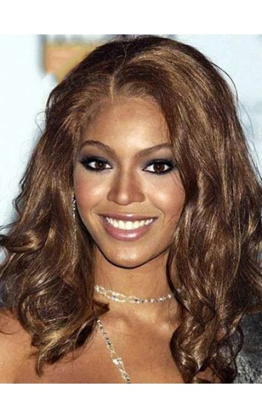 Beyonce Elegante Long Wavy Synthetic Lace Front Wig