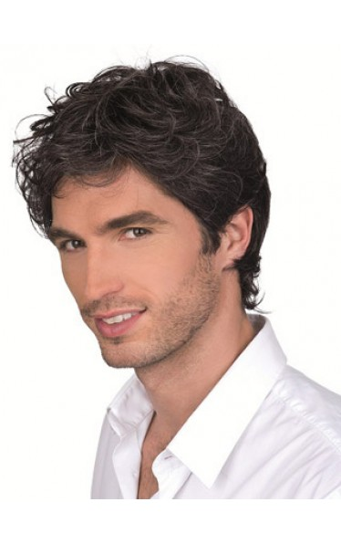 100% Remy Human Hair Mono Top Mens Full Wig