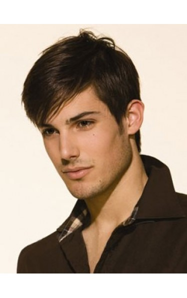 Remy Human Hair Lace Front Mens Wig
