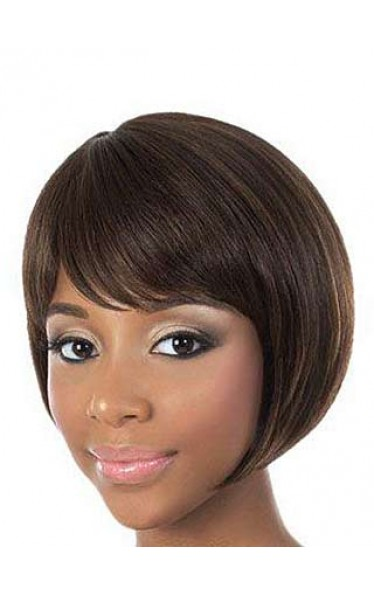 Cute Short Straight Human Hair Wig