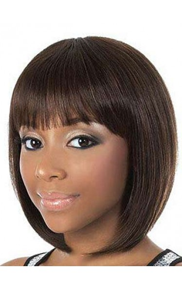 Capless Bob Style African American Wig