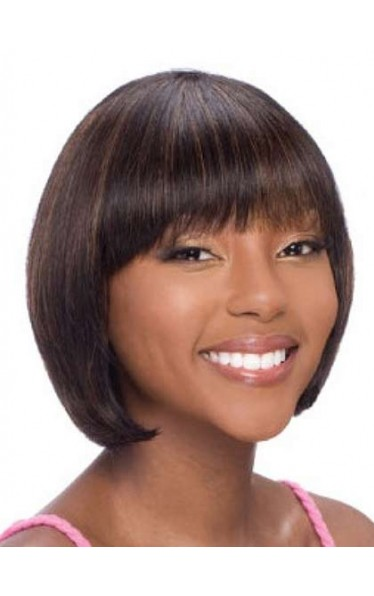 Cute Chin-length Bob Style African American Wig
